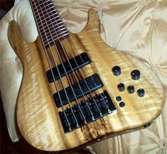6 String Myrtlewood Bass by Carl S Basses, USA cc_da_bassman@hotmail.com
