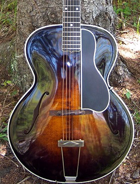 Curly Maple archtop by Jackson Cunningham