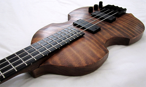 Redwood Violin Bass Guitar by Wilkat Guitars, USA wilkat@sympatico.ca