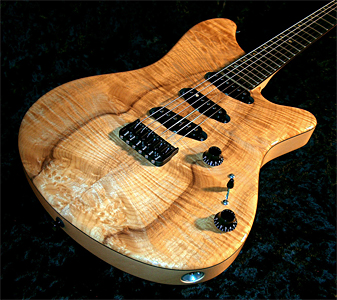 DLS Custom with Myrtlewood top & Port Orford Cedar body and neck (6.5 lbs total weight) by John Page Guitars  www.johnpageguitars.com/  USA