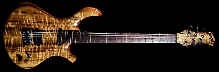 "Myrtlewood ""BlastFly"" Guitar by PMC Guitars http://www.pmcguitars.com/en/creation/guitares-electriques/109.html?task=view  France"