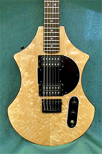 Maple top by Tom Peterson, Sunrise Electric Guitars  USA    http://www.vtcustomfurniture.com