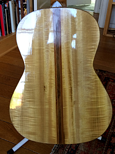 Myrtlewood & Port Orford Cedar Guitar by Doug Shaker   doug@theshakers.org  USA