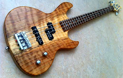 Redwood Top Bass by Marcel Besselink  embeeguitars.nl  Netherlands