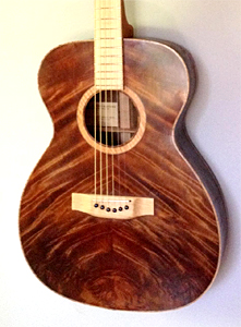 Claro Walnut Guitar with Curly Redwood Top by Eric Weigeshoff eric.weigeshoff@gmail.com  USA