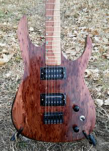Burl Redwood Guitar by Alien Guitars USA Email alienguitarfactory@gmail.com