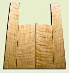 """CDAS10309 - Curly Port Orford Cedar Acoustic Guitar Back and Side Set, Medium Grain Salvaged Old Growth, Excellent Stiffness and Tap Tone, Dreadnought size.   2 panels each .18"""" x 9"""" x 24"""" and 2 panels each .18"""" x 6"""">5"""" x 36"""" S1S  Fine Luthier Tonewood"""