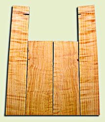 """CDAS10341 - Curly Port Orford Cedar Acoustic Guitar Back and Side Set, Medium Grain Salvaged Old Growth, Excellent Stiffness and Tap Tone, Dreadnought  size.   2 panels each .17"""" x 8"""" x 23.5"""" and 2 panels each .16"""" x 6"""" x 35.5"""" S1S   Choice Luthier Tonewo"""
