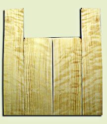 """CDAS10343 - Curly Port Orford Cedar Acoustic Guitar Back and Side Set, Medium Grain Salvaged Old Growth, Excellent Stiffness and Tap Tone, Dreadnought  size.   2 panels each .18"""" x 8.5"""" x 23.5"""" and 2 panels each .16"""" x 6"""" x 33"""" S1S   Superb Luthier Tonewo"""