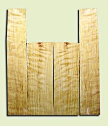 """CDAS10346 - Curly Port Orford Cedar Acoustic Guitar Back and Side Set, Medium Grain Salvaged Old Growth, Excellent Stiffness and Tap Tone, Dreadnought  size.   2 panels each .20"""" x 8"""" x 23.5"""" and 2 panels each .16"""" x 6"""" x 35"""" S1S   Unique Luthier Tonewood"""