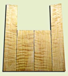 """CDAS10352 - Curly Port Orford Cedar Acoustic Guitar Back and Side Set, Medium Grain Salvaged Old Growth, Excellent Stiffness and Tap Tone, Dreadnought  size.   2 panels each .18"""" x 8.5"""" x 21.5"""" and 2 panels each .16"""" x 6"""" x 35.5"""" S1S   Fabulous Luthier To"""