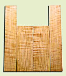 """CDAS10354 - Curly Port Orford Cedar Acoustic Guitar Back and Side Set, Medium Grain Salvaged Old Growth, Excellent Stiffness and Tap Tone, Dreadnought  size.   2 panels each .17"""" x 8.5"""" x 24.5"""" and 2 panels each .17"""" x 6.5"""" x 36"""" S1S   Amazing Luthier Ton"""