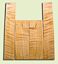 """CDAS10355 - Curly Port Orford Cedar Acoustic Guitar Back and Side Set, Medium Grain Salvaged Old Growth, Excellent Stiffness and Tap Tone, Dreadnought  size.   2 panels each .17"""" x 8.5"""" x 24.5"""" and 2 panels each .17"""" x 6.5"""" x 36"""" S1S   Amazing Luthier Ton"""