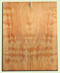"DFES12231 - Wavy Douglas Fir Solid Body Guitar Top Set, Rare, 3/4 Sawn Old Growth, Unusual Guitar Wood, Strat size.  2 panels each  .24"" x 8"" x 20""  S1S"