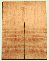 "DFES12233 - Wavy Douglas Fir Solid Body Guitar Top Set, Rare, 3/4 Sawn Old Growth, Unusual Guitar Wood, Strat size.  2 panels each  .24"" x 8"" x 20""  S1S"