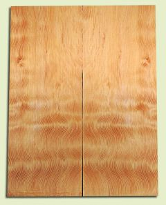 "DFES12234 - Wavy Douglas Fir Solid Body Guitar Top Set, Rare, 3/4 Sawn Old Growth, Unusual Guitar Wood, Strat size.  2 panels each  .24"" x 8"" x 20""  S1S"