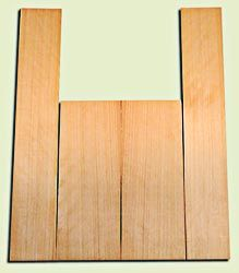 """CDAS12559 - Port Orford Cedar Acoustic Guitar Back and Side Set, Medium to Fine Grain Salvaged Old Growth, Excellent Stiffness and Tap Tone, Clean Dreadnought Layout, Superior Luthier Wood.  2 panels each .19"""" x 8.5"""" x 22"""" and 2 panels each .18"""" x 6"""" x 36"""