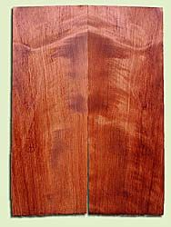 """RWES13408 - Redwood, Solid Body Guitar or Bass Fat Drop Top Set, Med. to Fine Grain Salvaged Old Growth, Very Good Color& Curl, Highly ResonantGuitar Wood, Visually Stunning , 2 panels each 0.375"""" x 8"""" X 22.25"""", S1S"""