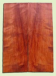 """RWES13410 - Redwood, Solid Body Guitar or Bass Fat Drop Top Set, Med. to Fine Grain Salvaged Old Growth, Very Good Color& Curl, Highly ResonantGuitar Wood, Visually Stunning , 2 panels each 0.375"""" x 8"""" X 22.25"""", S1S"""