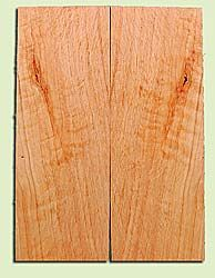 "CDES13472 - Port Orford Cedar, Solid Body Guitar or Bass Drop Top Set, Salvaged Old Growth, Excellent Color With Med Curl, Highly Resonant Guitar Wood, Adds Great Tonal Quality , 2 panels each 0.24"" x 8"" X 22"", S1S"