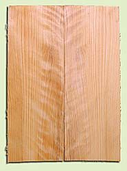 "CDES13486 - Port Orford Cedar, Solid Body Guitar or Bass Drop Top Set, Salvaged Old Growth, Very Good Color & Curl, Highly Resonant Guitar Wood, Adds Great Tonal Quality , 2 panels each 0.24"" x 8"" X 22"", S1S"