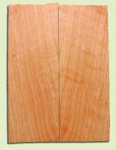 "CDSB13495 - Port Orford Cedar, Drop Top Set, Salvaged Old Growth, Very Good Color & Curl, Wide Grain, Adds Great Tonal Quality , 2 panels each 0.18"" x 8"" X 22"", S1S"