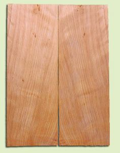 "CDSB13505 - Port Orford Cedar, Drop Top Set, Salvaged Old Growth, Very Good Color & Curl, Wide Grain,  Adds Great Tonal Quality , 2 panels each 0.18"" x 8"" X 22"", S1S"