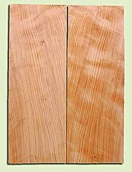 "CDSB13506 - Port Orford Cedar,  Drop Top Set, Salvaged Old Growth, Very Good Color & Curl, Wide Grain   Adds Great Tonal Quality , 2 panels each 0.18"" x 8"" X 22"", S1S"