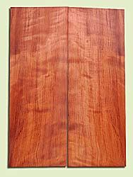 "RWES14495 - Curly Redwood, Solid Body Guitar or Bass Top Set, Les Paul Thickness, Very Fine Grain Salvaged Old Growth, Excellent Color & Very Good Curl, Highly Resonant Guitar Tonewood, Visually Stunning, 2 panels each 0.625"" x 7.8"" X 22"", S1S"