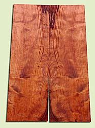 "RWES14521 - Curly Redwood, Solid Body Guitar or Bass Fat Drop Top Set, Very Fine Grain Salvaged Old Growth, Excellent Color & Curl, Highly Resonant Guitar Tonewood, Visually Stunning, 2 panels each 0.4"" x 8 > 7"" X 22"", S1S"