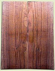 "WAES01454 - Claro Walnut Drop Top Set, Excellent Figure Top Color, for Bass, Strat, etc.  2 panels each .23"" x 9"" x 22"" S1S"