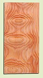 "DFHS15037 - Flat Sawn Curly Douglas Fir, Guitar Headstock Plate, Very Good Figure & Colors, Adds Pazzazz, Multiples Available, each 0.15"" x 4"" X 8"""