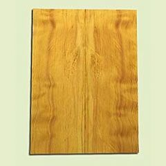 "DFES15909 - Wavy Douglas fir, Solid Body Guitar or Bass Fat Drop Top Set, Salvaged Old Growth, Amazing Tap Tone, Great Guitar Tonewood, , 2 panels each 0.38"" x 8"" X 21.75"", S1S"