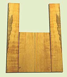 """DFAS15915 - Wavy Douglas Fir, Acoustic Guitar Back & Side Set for Dreadnought, Salvaged Old Growth, Excellent Color& Curl, Amazing Guitar Tonewood, 2 panels each 0.16"""" x 8"""" X 20.25"""", S1S, and 2 panels each 0.18"""" x 5.75"""" X 36"""", S1S"""