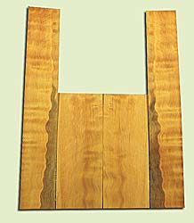 """DFAS15916 - Wavy Douglas Fir, Acoustic Guitar Back & Side Set for Dreadnought, Salvaged Old Growth, Excellent Color& Curl, Amazing Guitar Tonewood, 2 panels each 0.16"""" x 8"""" X 20.25"""", S1S, and 2 panels each 0.18"""" x 5.75"""" X 36"""", S1S"""
