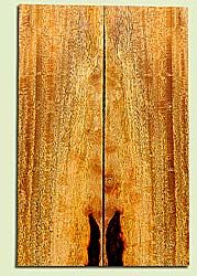 """MGES17225 - Mango, Solid Body Guitar or Bass Drop Top Set, Excellect Curl, Urban Salvage, Air Dried for Excellent Colors, Eco-FriendlyLuthier Tonewood, 2 panels each 0.25"""" x 7"""" x 22"""", S1S"""