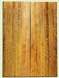 """MGES17231 - Mango, Solid Body Guitar or Bass Drop Top Set, Excellect Curl, Urban Salvage, Air Dried for Excellent Colors, Eco-FriendlyLuthier Tonewood, 2 panels each 0.24"""" x 8"""" x 22.25"""", S1S"""