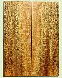 """MGES17232 - Mango, Solid Body Guitar or Bass Drop Top Set, Excellect Curl, Urban Salvage, Air Dried for Excellent Colors, Eco-FriendlyLuthier Tonewood, 2 panels each 0.24"""" x 8"""" x 22.25"""", S1S"""