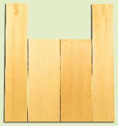 """YCAS17747 - Alaska Yellow Cedar, Dreadnought Size Acoustic Guitar Back & Side Set, Med. to Fine Grain Salvaged Old Growth, Excellent Color, Highly ResonantGuitar Wood, 2 panels each 0.2"""" x 8.5"""" x 22"""", S1S, and 2 panels each 0.18"""" x 5.8"""" x 32"""", S1S"""