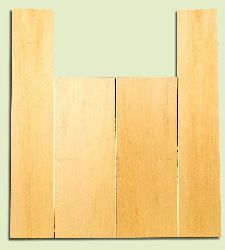 "YCAS17749 - Alaska Yellow Cedar, Dreadnought Size Acoustic Guitar Back & Side Set, Med. to Fine Grain Salvaged Old Growth, Excellent Color, Highly Resonant Guitar Wood, 2 panels each 0.2"" x 8.5"" x 22"", S1S, and 2 panels each 0.18"" x 5.8"" x 32"", S1S"