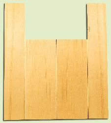 "YCAS17753 - Alaska Yellow Cedar, Dreadnought Size Acoustic Guitar Back & Side Set, Med. to Fine Grain Salvaged Old Growth, Excellent Color, Highly Resonant Guitar Wood, Minor Cosmetic Flaw, 2 panels each 0.15"" x 8.5"" x 22"", S1S, and 2 panels each 0.15"" x"