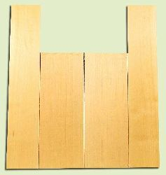 """YCAS17773 - Alaska Yellow Cedar, Dreadnought Size Acoustic Guitar Back & Side Set, Very Fine Grain Salvaged Old Growth, Excellent Color, Highly ResonantGuitar Wood, 2 panels each 0.22"""" x 8.45"""" x 22.25"""", S1S, and 2 panels each 0.18"""" x 5.9"""" x 32"""", S1S"""