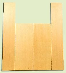 """YCAS17778 - Alaska Yellow Cedar, Dreadnought Size Acoustic Guitar Back & Side Set, Very Fine Grain Salvaged Old Growth, Excellent Color, Highly ResonantGuitar Wood, 2 panels each 0.17"""" x 8.5"""" x 22.25"""", S1S, and 2 panels each 0.18"""" x 5.75"""" x 32"""", S1S"""