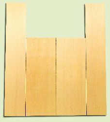 """YCAS17781 - Alaska Yellow Cedar, Dreadnought Size Acoustic Guitar Back & Side Set, Very Fine Grain Salvaged Old Growth, Excellent Color, Highly ResonantGuitar Wood, 2 panels each 0.17"""" x 8.5"""" x 22.25"""", S1S, and 2 panels each 0.17"""" x 5.75"""" x 32"""", S1S"""