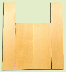 """YCAS17782 - Alaska Yellow Cedar, Dreadnought Size Acoustic Guitar Back & Side Set, Very Fine Grain Salvaged Old Growth, Excellent Color, Highly ResonantGuitar Wood, 2 panels each 0.17"""" x 8.5"""" x 22.25"""", S1S, and 2 panels each 0.17"""" x 5.75"""" x 32"""", S1S"""