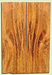 """MGES17817 - Mango, Solid Body Guitar Bass Drop Top Set, Air Dried, Very Good Color& Curl, OutstandingGuitar Wood, Salvaged from the Big Island of Hawaii, 2 panels each 0.25"""" x 7.37"""" x 22"""", S2S"""