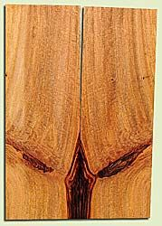 """MGES17826 - Mango, Solid Body Guitar or Bass Drop Top Set, Air Dried, Excellent Color& Curl, OutstandingGuitar Wood, Salvaged from the Big Island of Hawaii, 2 panels each 0.2"""" x 7.375"""" x 21.75"""", S2S"""