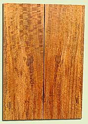 """MGES17830 - Mango, Solid Body Guitar or Bass Drop Top Set, Air Dried, Excellent Color& Curl, OutstandingGuitar Wood, Salvaged from the Big Island of Hawaii, 2 panels each 0.21"""" x 7.5"""" x 21.75"""", S2S"""