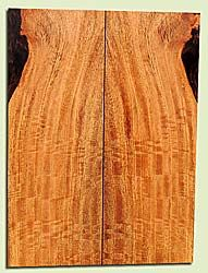 """MGES17832 - Mango, Solid Body Guitar or Bass Drop Top Set, Air Dried, Excellent Color& Curl, OutstandingGuitar Wood, Salvaged from the Big Island of Hawaii, 2 panels each 0.21"""" x 7.25"""" x 22"""", S2S"""