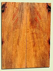 """MGES17836 - Mango, Solid Body Guitar Drop Top Set, Air Dried, Excellent Color& Contrast, OutstandingGuitar Wood, Salvaged from the Big Island of Hawaii, 2 panels each 0.22"""" x 7.25"""" x 19.75"""", S2S"""